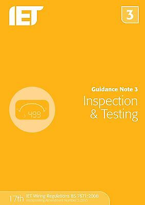 Guidance Note 3 Inspection Testing 7e The IET Institution Enginee 9781849198738