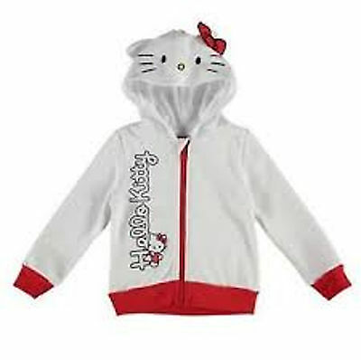 New Hello Kitty Girls Hoodie White -  9-10 Years