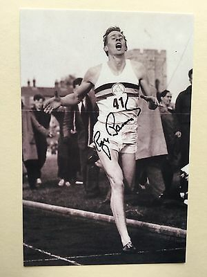 """athletics sir roger bannister signed 6"""" x 4"""" photograph"""
