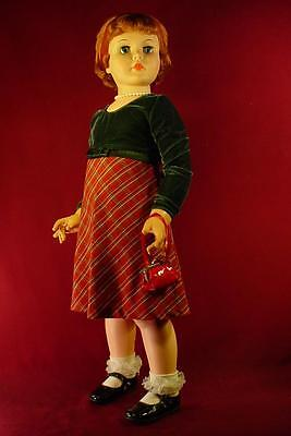 """Darling Vintage 35"""" Playpal Companion Walker Doll Red Hair Excellent Condition"""