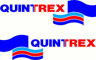Quintrex, 3 Colour, Fishing, Boat, Small Mirrored Sticker Decal Set of 2