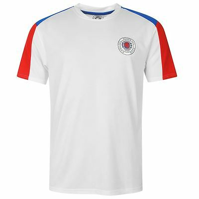 KIDS Glasgow Rangers FC Core Polyester T-Shirt Mens Football Soccer Top  7 - 13