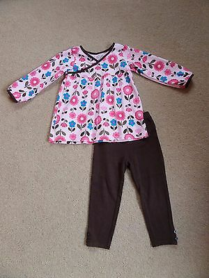 FABULOUS Girl's CARTER'S Outfit Age 4 From USA Perfect for NOW! Pink & Chocolate