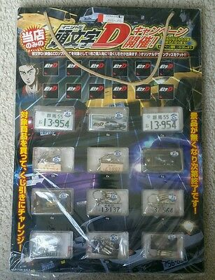 Initial D Keychain Store Display w/ 12 Keychains BRAND NEW RARE
