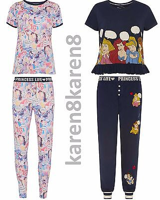 PRINCESS LIFE Ladies  Pyjamas Primark DISNEY Womens Pajamas T Shirt Leggings