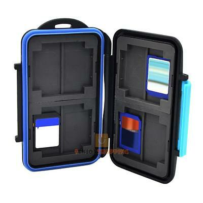 Memory Card Storage Case Holder Box for 8 x Cards MC-SD8 Waterproof Anti-shock