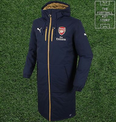 Arsenal Padded Jacket - Official Puma Boys Coat - Fleece Lined - All Sizes