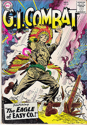 G.I. COMBAT #66 (DC,Nov 1958) G+/VG * Pre-Sgt Rock Easy Co. story