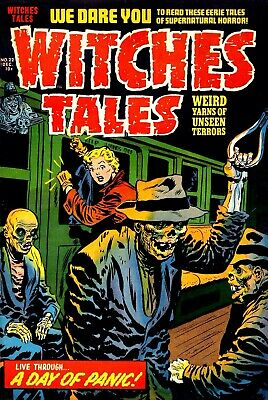 Witches Tales 22 Comic Book Cover Art Giclee Reproduction on Canvas