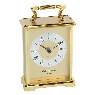 Traditional Gold Carriage Mantel Table Clock 18x10cm