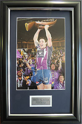 Billy Slater MELBOURNE STORM Superstar Signed framed