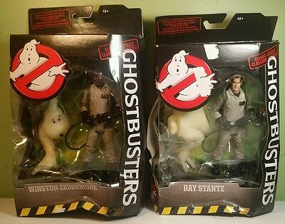 "GHOSTBUSTERS CLASSICS Ray and Winston WALMART EXCLUSIVE 6"" Damaged Boxes"