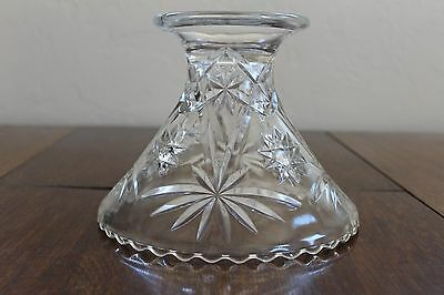 Pessed Glass Punch Bowl Stand Star of David