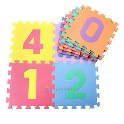 10Pcs Numbers Eva Foam Baby Crawl Playing Floor Mat Tiles Jigsaw Puzzle Rugs