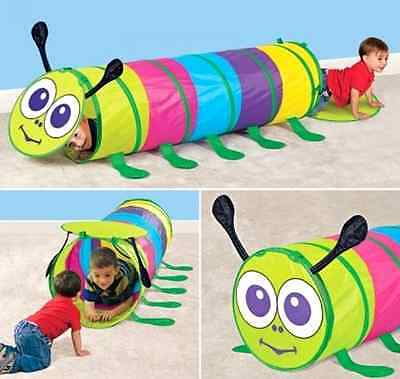 Caterpillar Tunnel Play Tent Soft Vinyl Plastic Outdoor and Indoor Play For Kids