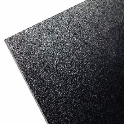 "ABS Black Plastic 1/8"" x 12"" x 12"" .125"" textured 1 side  vacuum forming sheet *"
