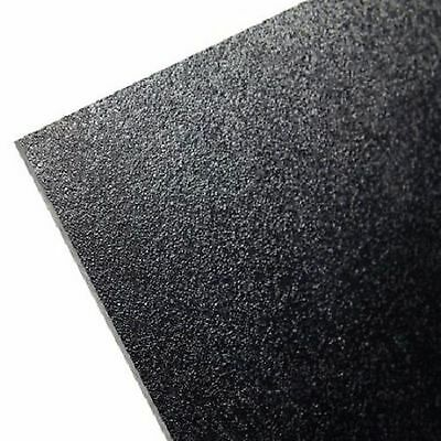 "ABS BLACK Plastic Sheet 12"" X 24"" X 0.0625"" (1/16"")"
