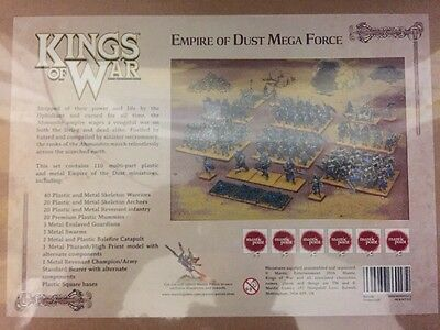 Free Uk Shipping! Kings Of War Empire Of Dust Mega force Boxed Set. Brand New