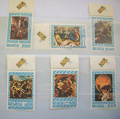 PANAMA 1967 Stamps SET/6  EASTER CHRIST PAINTINGS RELIGION - MNH