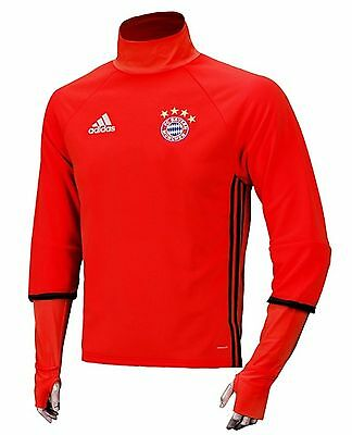 NWT Adidas Men Bayern Munich TRG Top Jersey L/S Tee Soccer Red Shirts GYM AO0290