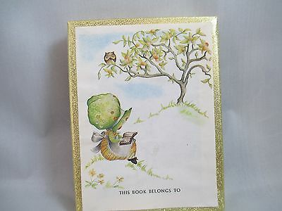Vintage ANTIOCH BOOKPLATES Girl w/ Sunbonnet reading a book - 38 plates
