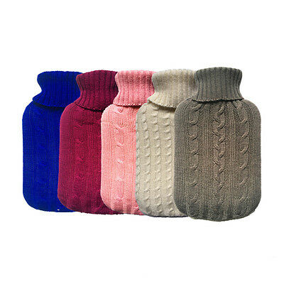 Portable Hot Water Bag #U Hand Feet Warming Bottles Bag Cover Knit Flannel New