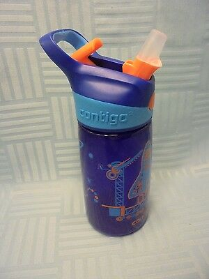 Contigo Autospout Striker Kids Water Bottle 14 oz Sapphire W2