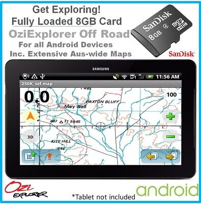 *8GB SD Card Android Detailed Australia-wide Topographic Digital Map OziExplorer