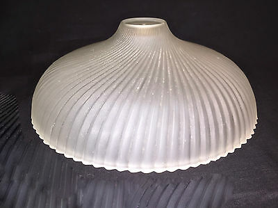 Vintage Frosted Glass Ceiling Light Fixture Cover Optic Ray shallow swirl cone