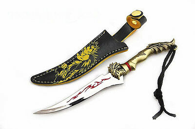 Anime DEATH NOTE Ryuuku Cosplay Weapon Dagger with Leather Sheath Accessoire