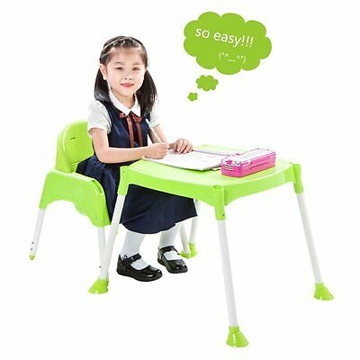 Convertible Kids Baby High Chair Table Seat Booster Toddler Feeding Highchair US