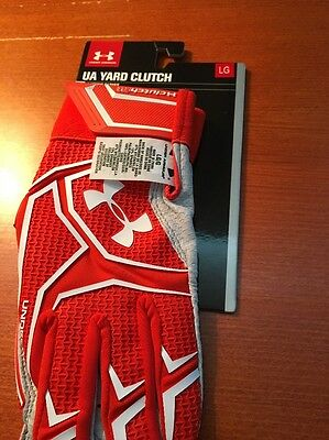 Under Armour Yard Clutch Batting Gloves Orange Men's Large