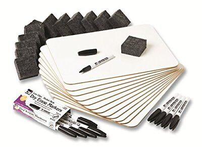 Charles Leonard Dry Erase Lapboard Class Pack, Includes 12 each of Whiteboards,