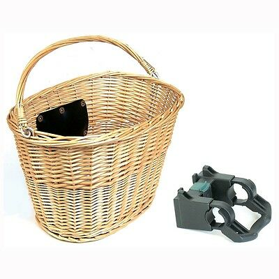Bike Corp Wicker Front Bike Basket in Wicker