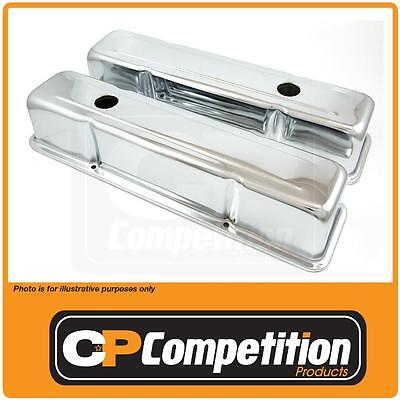 Chrome Rocker Cover Pair Small Block Chev Tall Height 54962