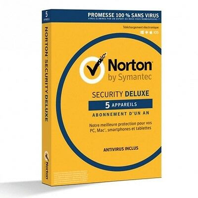 NORTON SECURITY 2016 DELUXE  (5 appareils / 1 an)