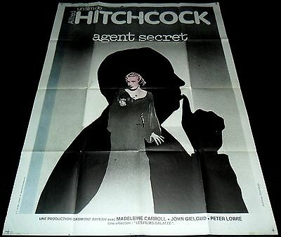 1936 Secret Agent ORIGINAL FRENCH POSTER Alfred Hitchcock RR75 AMAZING DESIGN