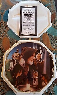 Star Wars Hamilton Collection Heroes and Villains Obi Wan Kenobi Plate