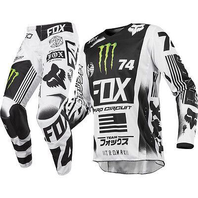 NEW Fox Racing 2017 Mx 180 Pro Circuit LE Monster Energy Motocross Gear Set