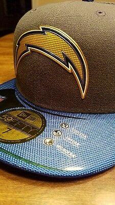 6bd9eae1300 NEW ERA 59FIFTY 2015 SAN DIEGO CHARGERS GOLD COLLECTION hat cap Size 7 - NWT