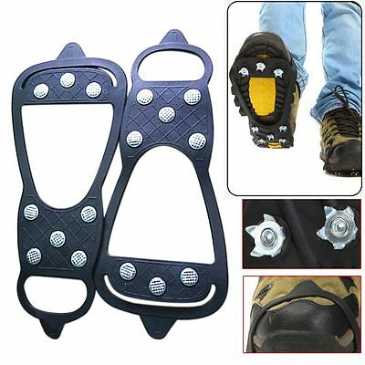 2pc 8Teeth Shoe Spikes Claws Anti-slip Sole Crampon Snow Chains for Boots
