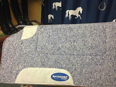 """Western Thick Felt Horse Pad W/Leather Wear Patches 32""""x 32"""" Made To Order NEW"""