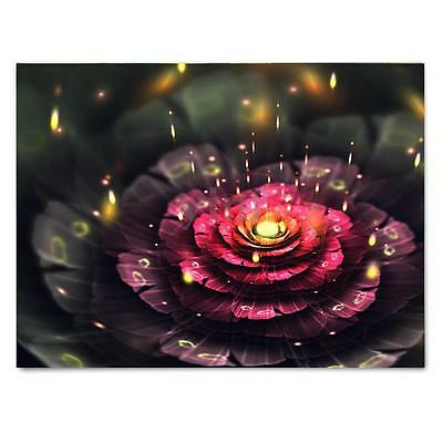 LED Light Up Flower Framed Canvas Picture Print Painting Christmas Home Decor
