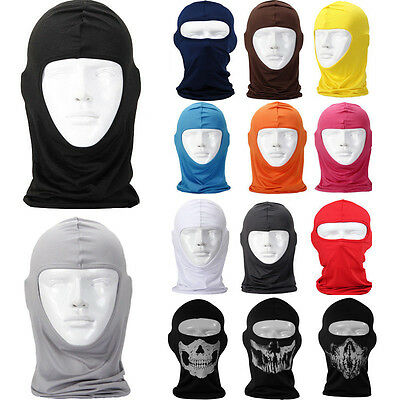 Ultra-thin Motorcycle Full Face Mask lycra Balaclava Cycling Ski Neck Protecting