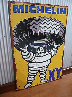 Large Michelin Tyres Metal tin sign Petrol Motor Oil Mancave bar Michelin Man