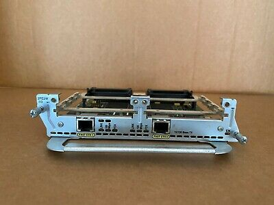 Cisco NM-2FE2W-V2 (2-Port Fast Ethernet Network Module) For Cisco Routers