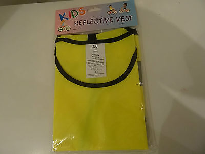 kids high viz reflective vest size medium 66-88 cm chest waist brand new