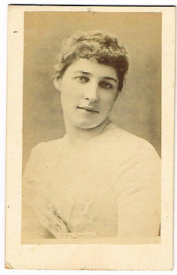 Old Cdv Photograph Lily Langtry Theatre Actress / Beauty Antique 1880S  (501)