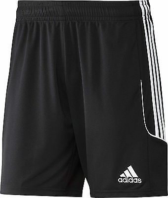 SHORTS FOOTBALL/ SOCCER adidas SQUAD 13 MENS S to X-LARGE BLACK/ WHITE TRIM