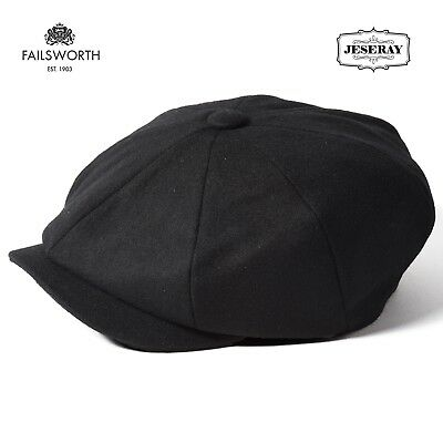 Failsworth Melton Dark Grey Wool Newsboy Peaky Blinders Style Cap Hat 3e5525565f72